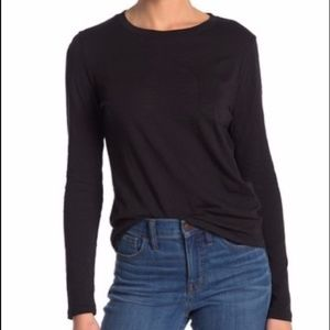 Madewell Crew Neck Long Sleeve Pocket T-Shirt
